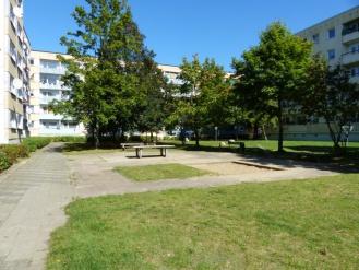 Schöner, begrünter Innenhof