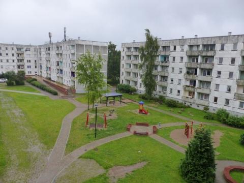 Blick auf den Spielplatz